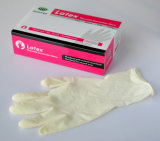 Wegwerfbares Latex Exam Gloves mit Powder u. Powder Free