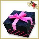 Caixa de presente de papel luxuosa personalizada do cartão do tamanho para empacotar