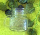 卸し売り250ml石大工のマグのメーソンジャーのハンドルのガラス製品