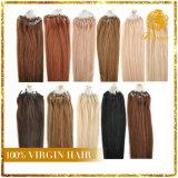 Extensão peruana do cabelo do Virgin da alta qualidade da extensão do cabelo do laço