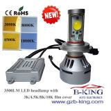 新しいArrival 3500lm CarかTruck LED Headlight (ファンスマートな検出と)