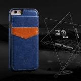 Lederner Mappen-Telefon-Kasten mit Kartenhalter für iPhone 6