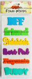 Multicolor espuma Palabras pegatinas para álbumes de recortes / artesanía