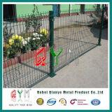 Recinto di filo metallico saldato ricoperto PVC verde Qym-Curvo