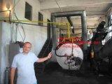 Neumático inútil a la planta de petróleo