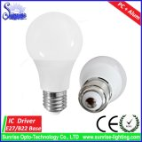 Lampe incandescente/éclairage d'ampoule d'E27/B22 A60/A19 12W DEL