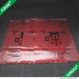 L'abitudine ha stampato il sacchetto impaccante della serratura di plastica della chiusura lampo