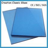 8mm claros - vidro de flutuador azul para o edifício