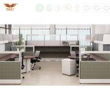 Poste de travail modulaire de panneau blanc de couleur avec des meubles de bureau d'écran de partition