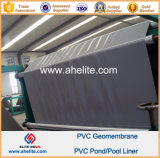 PVC liso Liners 0.5mm 3.0mm de Surface Gray Blue Color