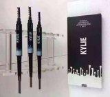 Kylie 2 em 1 pena da sobrancelha da qualidade da cor impermeável do lápis de sobrancelha 3 melhor para a composição