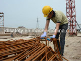 Anti-Couper le gant de travail avec le plongement bleu de latex (LD8034)