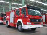 중국 거품과 물 탱크 화재 싸움 트럭