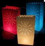 Linterna de la vela de papel luminaria boda del té lumbrera luz navidad bolsa