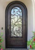 贅沢なデザインガラスが付いている住宅の錬鉄の単式記帳のドア
