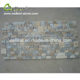 Mosaico del fragmento del color del limón de la pizarra del azulejo de la decoración de la pared