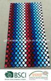 Essuie-main de plage estampé réactif tissé par coton 100% de velours de fibre de modèle de POINT de polka