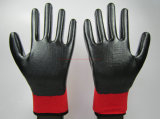 ニトリルは塗ったポリエステルシェルの労働の保護安全手袋(NS004)に