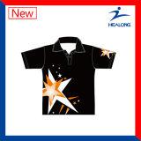 Healong a personnalisé entièrement la chemise de polo de sublimation de teinture