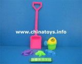 Giocattolo stabilito della spiaggia di plastica. Automobile della spiaggia del giocattolo di estate, forcella (574408)