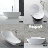 الحمام الصلبة السطح ستون طليق حوض استحمام