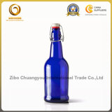コバルトブルー16ozのガラス飲料のびん/ビール瓶(091)