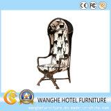 Стул отдыха мебели трактира гостиницы деревянный с задней частью стула яичка