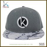Tampões e chapéus impressos Digitas cinzentos bordados baratos relativos à promoção do Snapback do logotipo