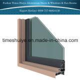 Ventana de aluminio de la puerta con el protector protector