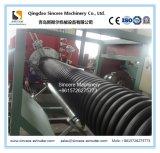 Ligne de machine d'extrusion de drain de spirale d'enroulement de HDPE