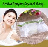 치부 그물코 틈을%s 비누를 희게하는 비누 바디 피부를 희게하는 자연적인 액티브한 효소 수정같은 피부는 퇴색한다