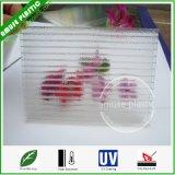 Folha oca alveolar protegida UV transparente de Sun do PC do painel de Policarbonato