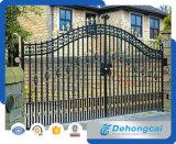 Puerta residencial económica durable ornamental del hierro labrado (dhgate-10)