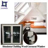 유럽식 고체 Oak/Teak/Pine 목제 알루미늄 여닫이 창 Windows