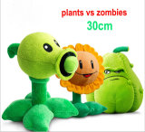 Plantas enchidas do brinquedo do guindaste máquina feita sob encomenda contra o brinquedo do luxuoso dos zombis