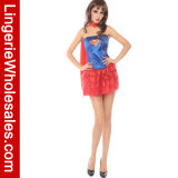 Supergirl der Halloween-Partei-Kleid-reizvollen Frauen Korsett und Ballettröckchen-Kostüm