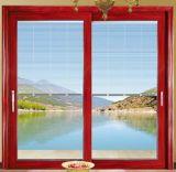 Porte coulissante résidentielle en aluminium d'interruption thermique avec les abat-jour internes d'obturateur