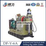 машина бурения керна гидровлической системы 1000-2100m Df-Y-6A польностью используемая для сбывания