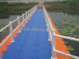 Muelle del barco de la flotación de bloque el pontón de flotación