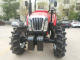 75HP 4WD Farm Tractors con Front Loaders y Backhoe
