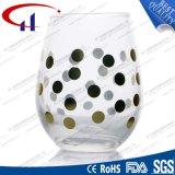 tazza di vetro stampata senza piombo della spremuta di goccia 230ml (CHM8188)