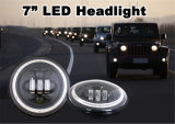 50W 7 Inch DEL Headlight pour Jeep Wrangler