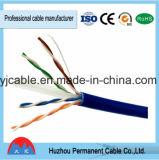 Paires Twisted non protégées de la catégorie 6 d'U/UTP 4 de câble de réseau (solide)