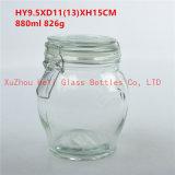 ガラスふた880mlが付いているガラス記憶の瓶の食糧ガラス瓶