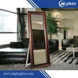 Pavimento del metallo che si leva in piedi vestente specchio per il negozio dei vestiti