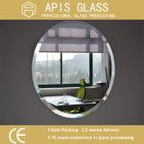 vetro rivestito dello specchio della stanza da bagno dell'argento rotondo di 6mm con il bordo smussato