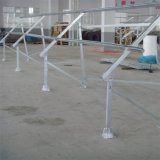 太陽電池パネルの屋根の土台によって電流を通される構造スチールブラケット