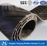 Prix de bande de conveyeur en caoutchouc de la configuration V de Chevron utilisé dans industriel