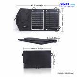 Portable de 8W 5V pliant le chargeur solaire flexible pour la tablette des téléphones Powerbank/de cellules avec la sortie d'USB