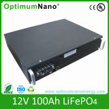 Batterie d'ion de lithium profonde du cycle 12V 100ah pour la mémoire à énergie solaire